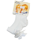 Pretty Originals White Bow Ankle Sock