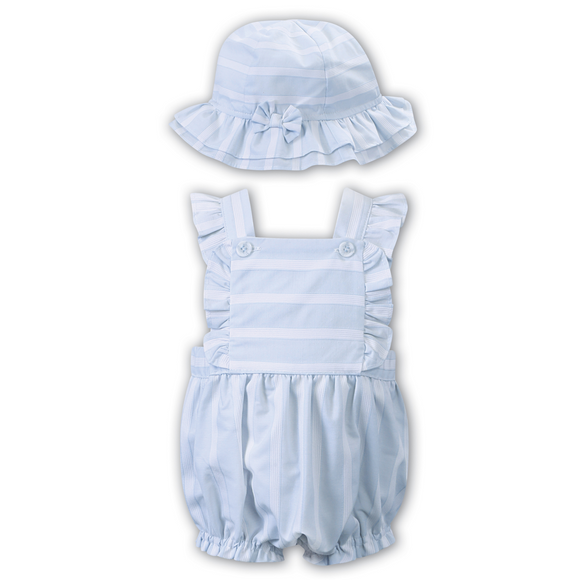 Dani by Sarah Louise Blue Bubble Romper & Hat