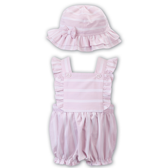 Dani by Sarah Louise Pink Bubble Romper & Hat