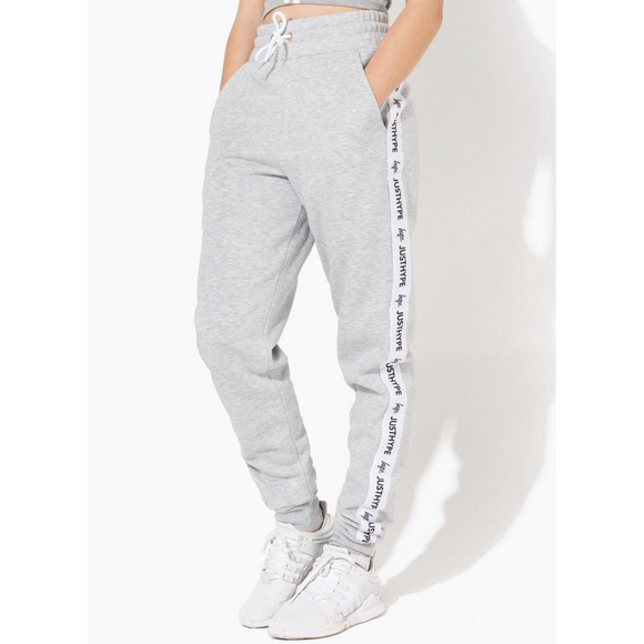 HYPE KIDS Grey/White Just Hype Tape Joggers