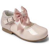 Mary Jane's With Satin Bow - Pink