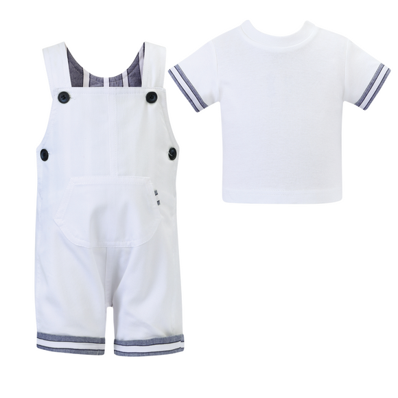 Dani by Sarah Louise Boys Two Piece Dungaree Set