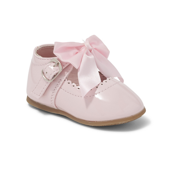 'Kylie' Bow Shoes - Pink