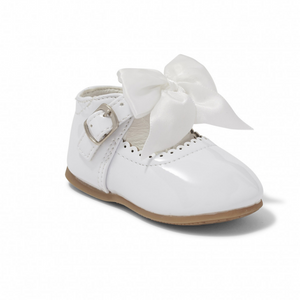 'Kylie' Bow Shoes - White