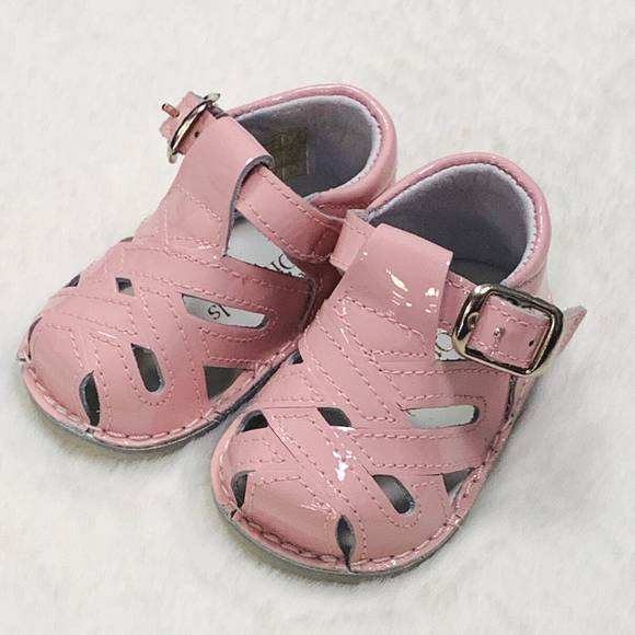 Pretty Originals Patent Pink Box Sandal