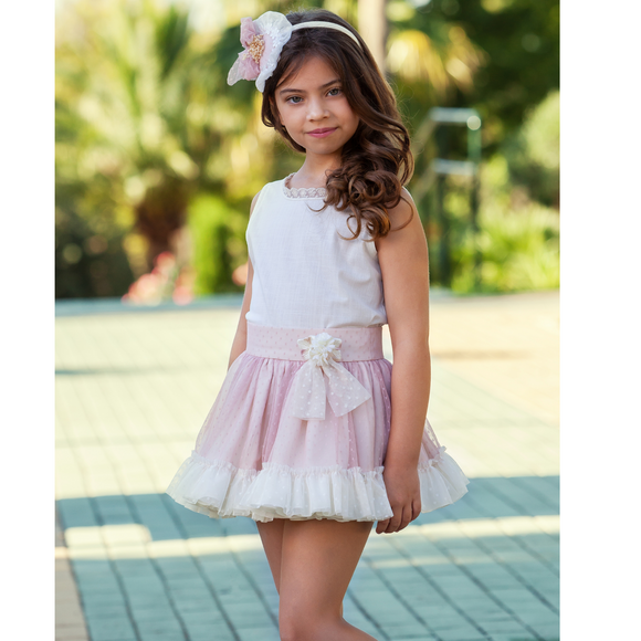Abuela Tata Girls Pink Skirt Set 33278