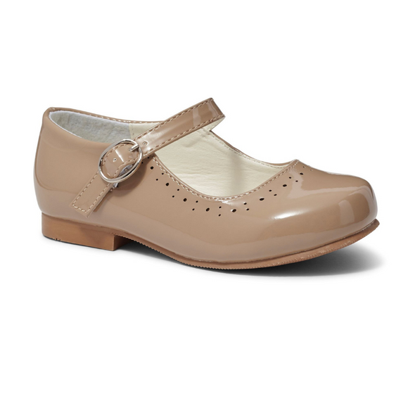 Abbey' Camel Hard Sole Girls Shoes