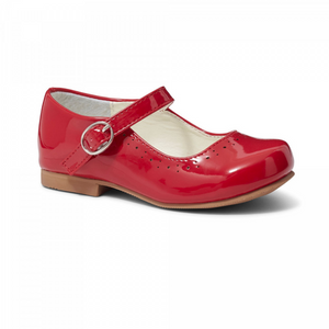 Abbey' Red Hard Sole Girls Shoes