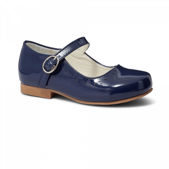 Abbey' Navy Hard Sole Girls Shoes