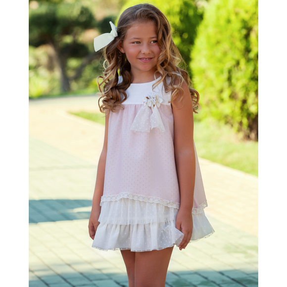 Abuela Tata Girls Pink Dress 15278