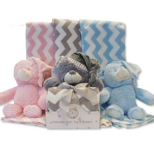 Teddy & Matching Blanket Gift Set