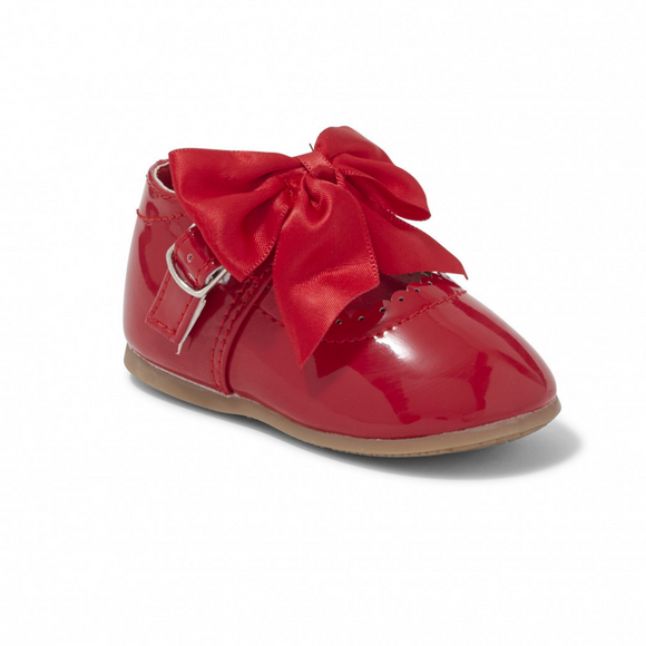 'Kylie' Bow Shoes - Red