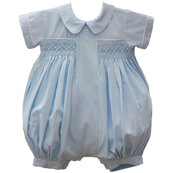 Pretty Originals Boys Blue Smock Romper