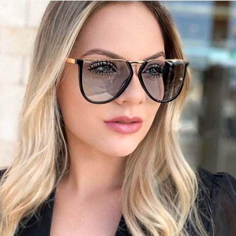 Oversized Sunglasses Vintage Metal Irregular