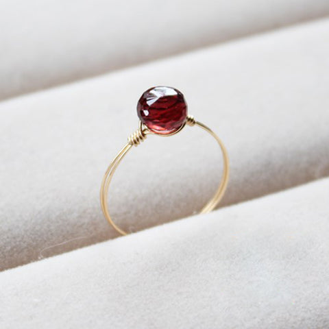 Handmade Natural Garnet Rings