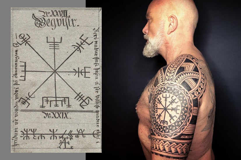 vegvisir tattoo icelandic magical symbol
