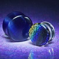glass flesh plugs ear tunnels