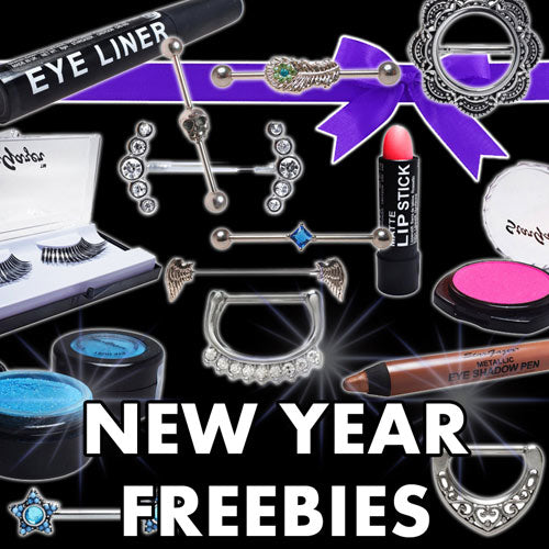 Free make up free piercing jewellery