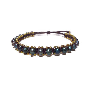 Bracelet with Iridescent Beads
