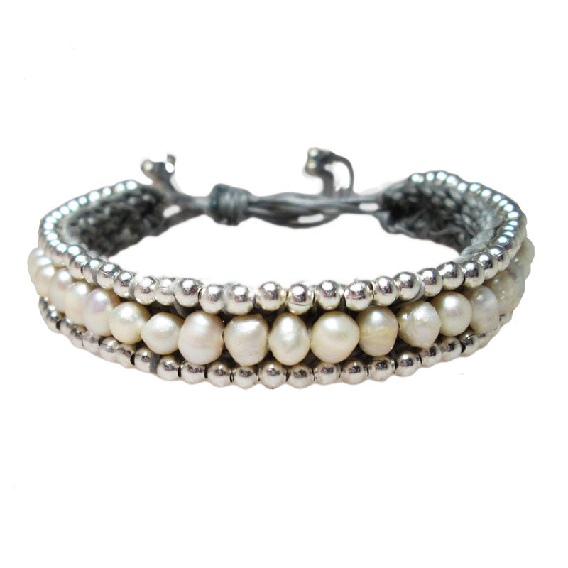 Freshwater Pearl and Bead Bracelet