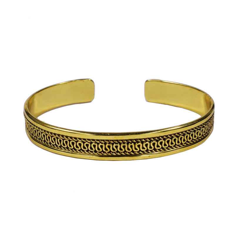 Tribal Brass Bangle