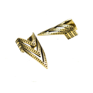 Brass Ear Cuff Chevron Design