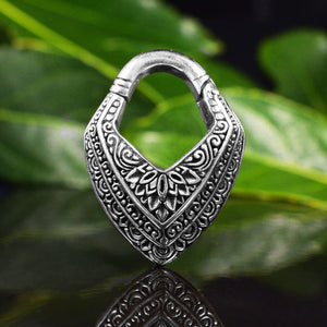 Hinged Ear Weight 'Malwari' in Silver Brass