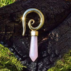 Rose Quartz Ear Hanger