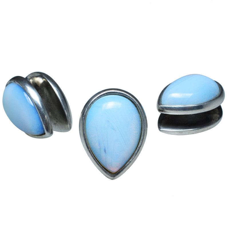 Spade Ear Weights with Opalite