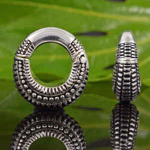 Silver Plated Hinged Kishtwa Ear Weights