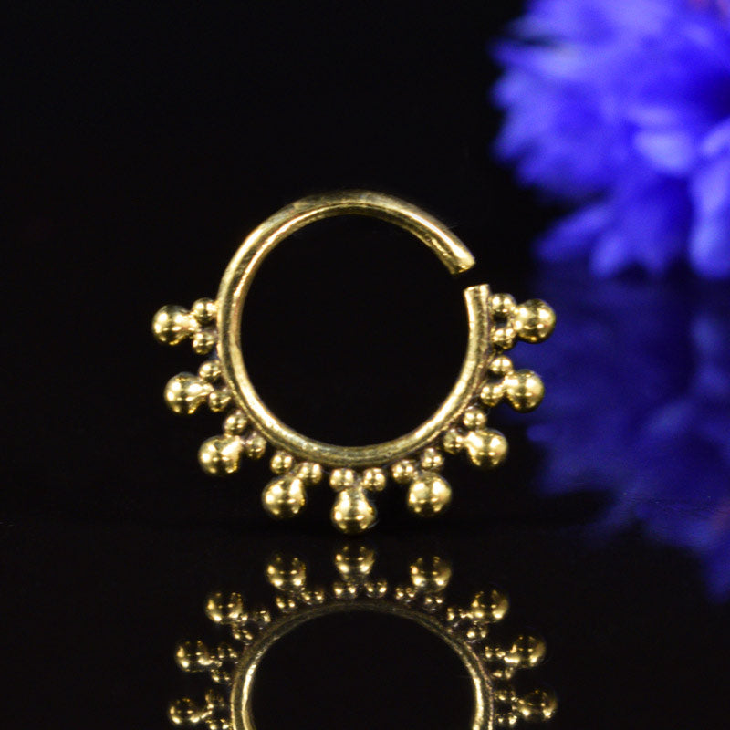 Tribal Septum Ring in Brass