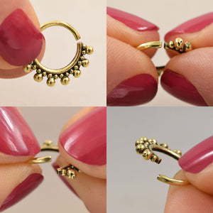 Silver Septum Ring 'Jaipur'
