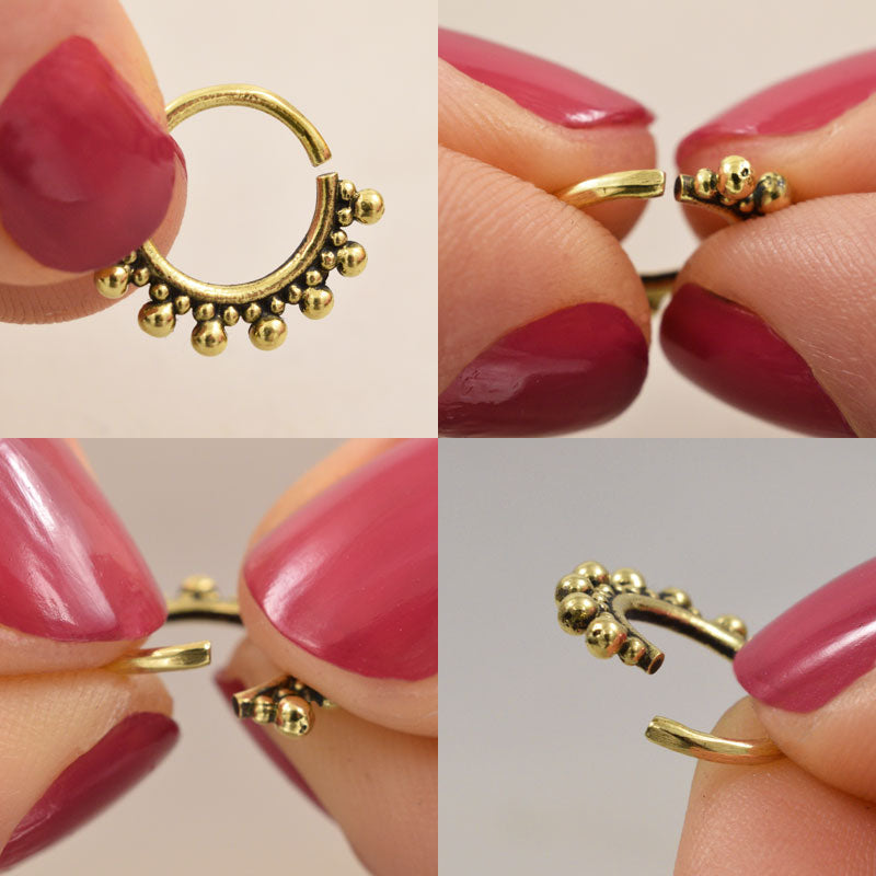 Tribal Brass Septum Ring