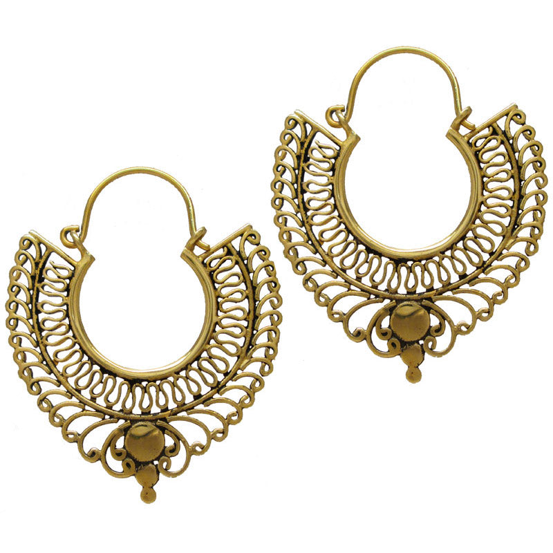 Vintage Style Brass Earrings