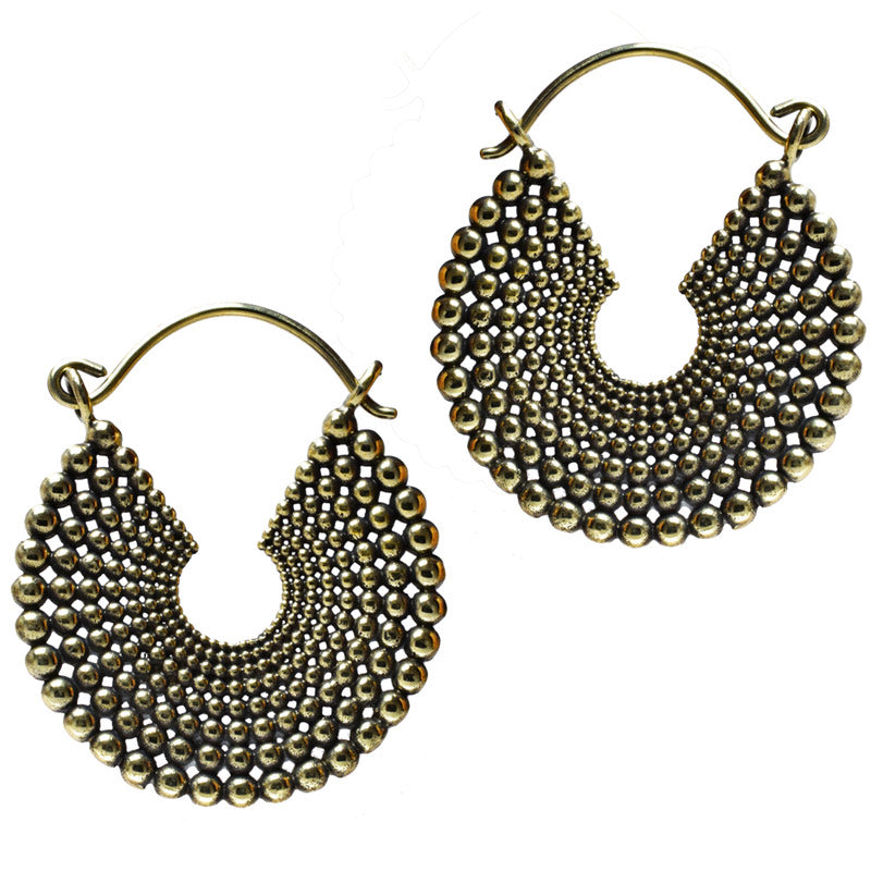 Concentric Dot Work Earrings