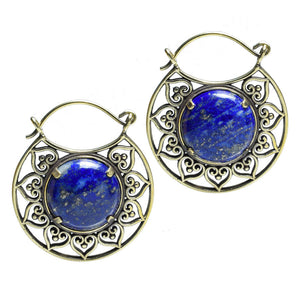 Lapis Lazuli Tribal Earrings