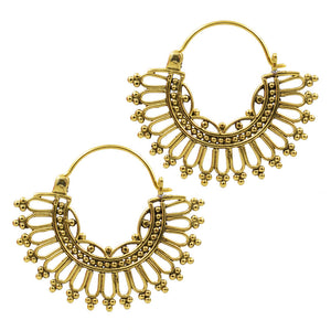Gold Plated Bali Beads Tribal Earrings