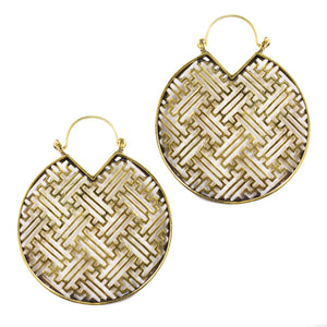 Sayagata Disc Earrings