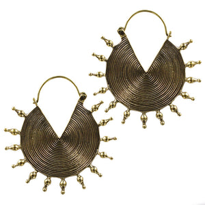 Tribal Disc Earrings