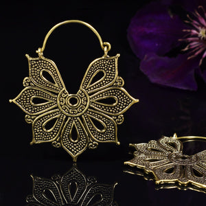 Tribal Flower with Dot Work Earrings