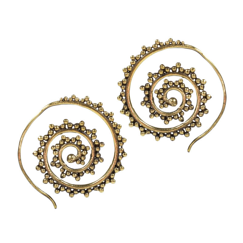 Spiral Earrings 'Kiwara'