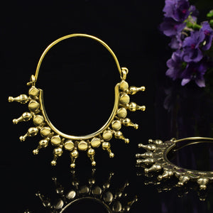 Tribal Brass Earrings 'Rakhni'