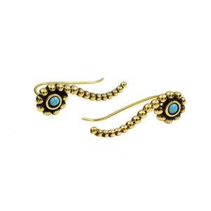 Ear Crawler with Turquoise Stone