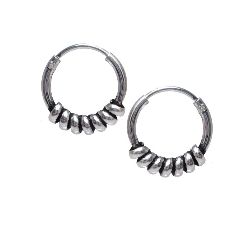 Bali Hoop Earrings Silver 'Ketima'