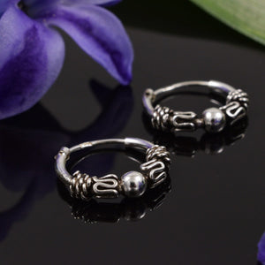 Bali Silver Hoop Earrings Dasa