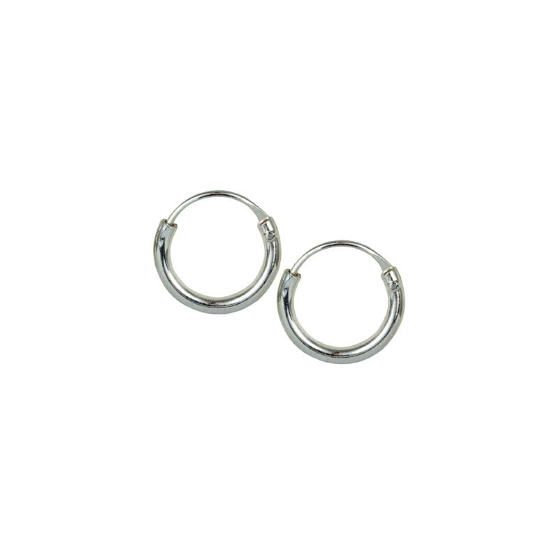 Very Small Silver Hoop Earrings 8mm
