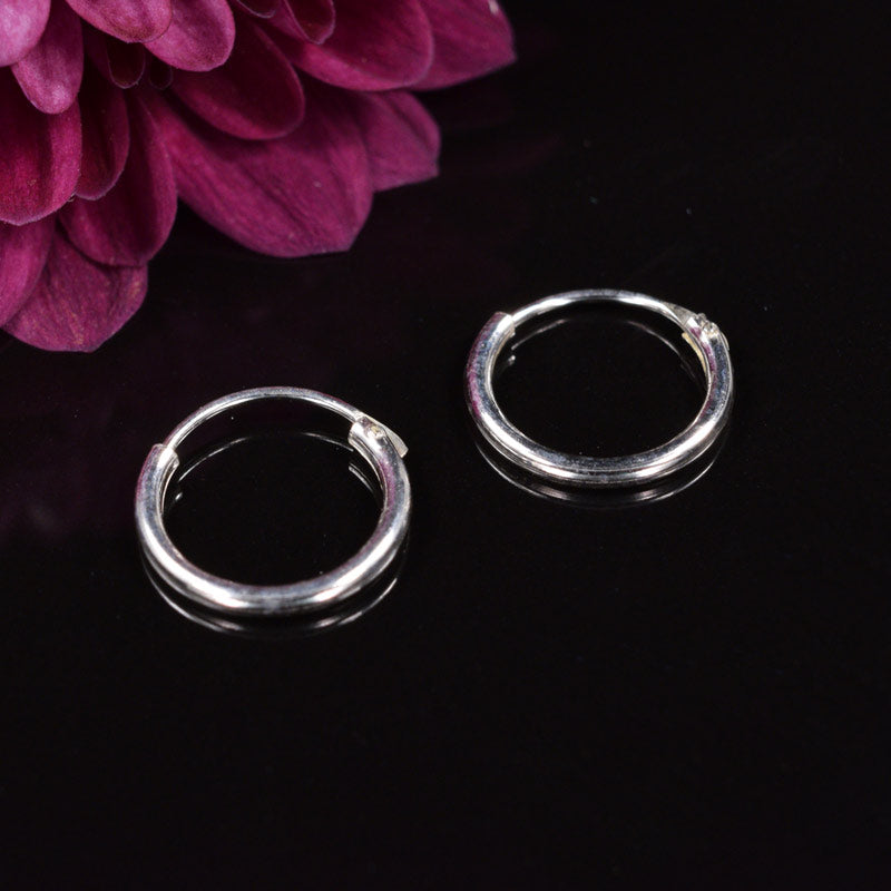 Small Silver Hoop Earrings 10mm