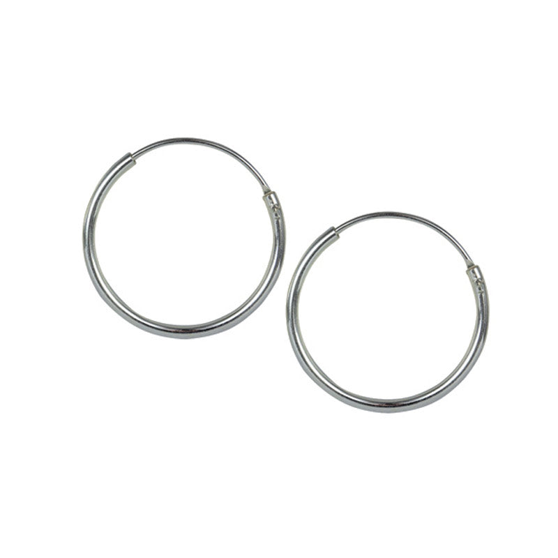 Medium Silver Hoop Earrings 16mm