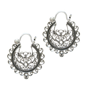Tribal Silver Earrings 'Chaknar'