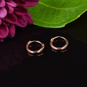 Tiny Silver Earrings Rose Gold Plated